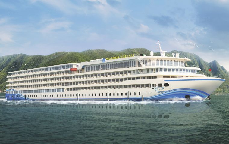 The ship, named Victoria Sabrina, is operated by the New York-based Victoria Cruises and was created in conjunction with nine research and design firms