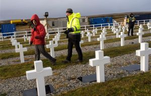 "But identification of fallen soldiers in Falklands will continue, ""it is a humanitarian action that must continue until its finalizations, and to this we are committed"" (Pic ICRC)"