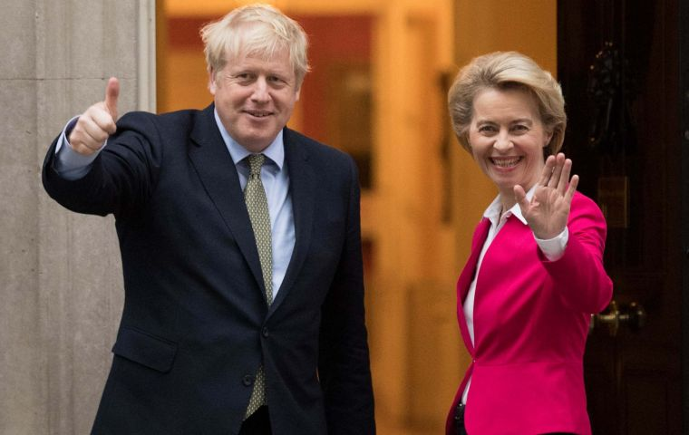 "Mrs. von der Leyen said if the deadline was not extended it was not a case of ""all or nothing"", but of priorities. Boris Johnson has insisted in December 2020."