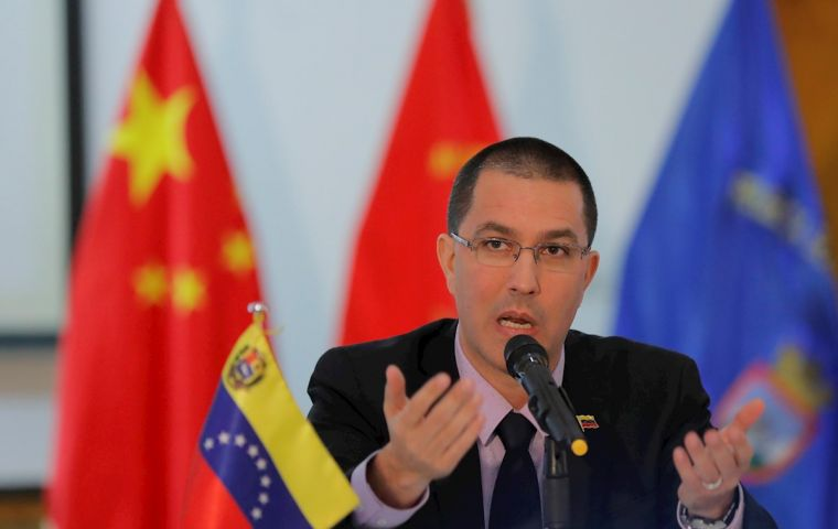 "Arreaza said he and Wang Yi had discussed similarities between ""this attempt to establish a color revolution in Hong Kong"", and ""what happened in Venezuela in 2014 and 2017."""