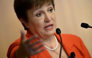 "Georgieva called the accord an ""important"" step but cautioned that ""much more work is ahead to heal the fractures between the world's two largest economies."""