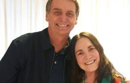 Actress Regina Duarte with president Jair Bolsonaro