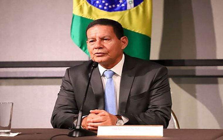 """The council will be led by Vice President Hamilton Mourao and will be tasked with coordinating the """"various actions in each ministry concerned with the protection, defense and sustainable development"""