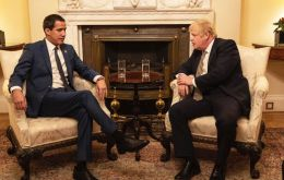 """Cowardly dictatorship!"" tweeted Mr Guaidó, who held talks with Prime Minister Boris Johnson in London"