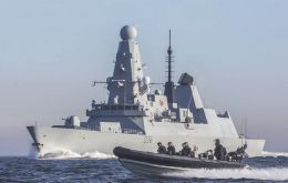 The propulsion system ordered for Type 45 is deemed to struggle in warmer waters, such as those in the Strait of Hormuz, where HMS Defender is patrolling (Pic RN)