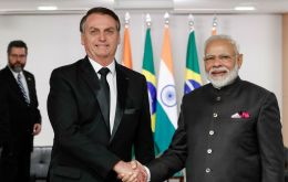 Bolsonaro will be on a state visit to India during January 24-27, accompanied by eight Ministers, four members of Parliament and a large business delegation