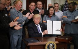 Trump has imposed tariffs on imported steel and aluminum to help boost U.S. production, which he says is a national security issue