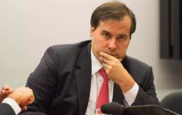 "Speaking next to Rodrigo Maia, speaker of Brazil's lower house, minister Guedes said he is confident the ""administrative reform"" bill will be approved this year"