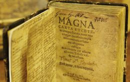 A key manuscript in English history, the Magna Carta is a charter of citizens' rights curbing the arbitrary power of medieval kings