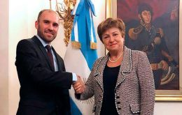 The meeting between Kristalina Georgieva and minister Martin Guzman took place in Rome, ahead of an economists' conference at the Vatican this Wednesday