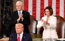 Pelosi ripped a copy of Trump's speech on Tuesday night seconds after the Republican president finished delivering it