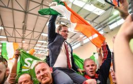 The former political wing of the Irish Republican Army, which has reinvented itself as the main left-wing party, secured 24% of first preference votes