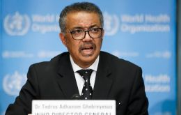 The virus has been named COVID-19, for coronavirus disease 2019, with no geographical association, Tedros said.