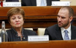 "Minister Guzman, along with Georgieva in the photo, presented his plan to Congress on Wednesday, lamenting that ""the country faces a debt burden preventing it from avoiding a recession spiral."""