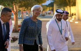 The meeting in Riyadh allowed Fed chairman Jerome Powell, ECB President Ms Lagarde and Bank of Japan Governor Haruhiko Kuroda to compare notes.