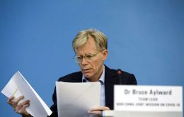 "At the WHO headquarters in Geneva, Bruce Aylward, told reporters that other countries were ""simply not ready"" to rein in the outbreak."
