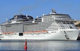 The MSC Meraviglia with 4.500 passengers was blocked from entering the port in Ochos Rios, Jamaica health officials said