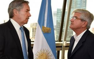 Foreign minister Felipe Solá and Argentine ambassador in Uruguay Alberto Iribarne will represent Argentina at Sunday's inauguration.