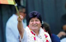 The Bolivian leader and ex president Evo Morales