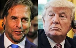 Luis Lacalle Pou had his first contact with US President Donald Trump