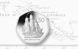 During Knjg George III's reign in 1775, explorer Capt. Cook made the first landing, survey and mapping of South Georgia in the HMS Resolution