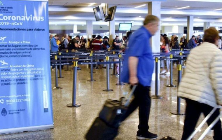 Argentina will stop issuing visas to travelers and suspend flights from countries hardest-hit by the virus, including US, China, Japan, South Korea and EU