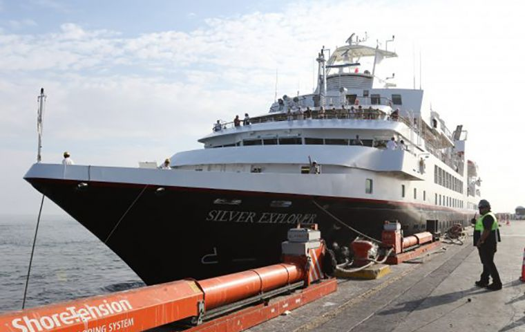 """The Silver Explorer is in quarantine off the port of Castro. The patient is in good condition but has tested positive for coronavirus,"" said Minister Jaime Manalich"