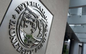 An IMF spokesperson said the request can't be considered because there was no clarity among its 189 members on who it recognizes as Venezuela's rightful leader