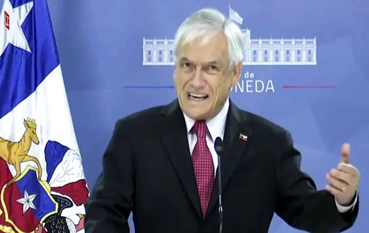 """This state (of catastrophe) is aimed at...preparing ourselves to confront what lies ahead,"" Piñera said in a speech from the La Moneda presidential palace."