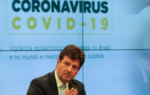 "Health Minister Luis Henrique Mandetta, who has contradicted Bolsonaro on the need to restrict public meetings, was also better rated than the president, with 55% seeing his work as ""great"" or ""good"""