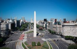Buenos Aires during the lockdown against the new COVID-19 pandemic.