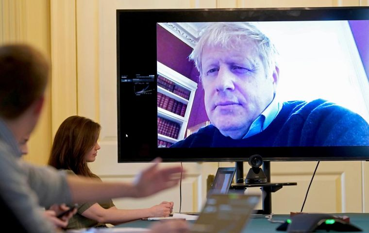 Johnson has said he can keep working from self-isolation in his Downing Street residence, just as his health secretary, Matt Hancock, who also tested positive