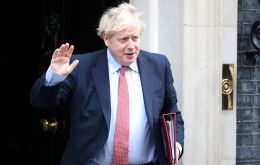 Johnson was admitted to St Thomas' Hospital in central London late on Sunday after suffering persistent coronavirus symptoms, including a high temperature