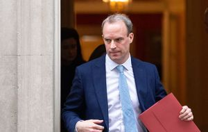 """The PM has asked Foreign Secretary Dominic Raab ... to deputize for him where necessary,"" said Downing Street"