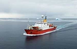 The RRS James Clark Ross (JCR) will transport people to the Falklands to rendezvous with the charter ship and return to Rothera to bring any remaining summer staff north.