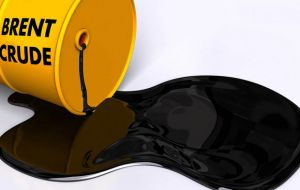 Brent Crude, the Europe and the rest of the world benchmark, which is already trading based on June contracts, was also weaker, down 8.9%, less than US$ 26