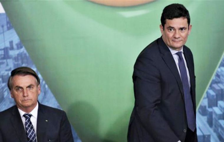 """I'm going to start packing up my things and send my resignation letter,"" said Moro, 47, who accused Bolsonaro of ""breaking the promise of a carte blanche."""