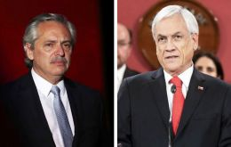 "Presidents Fernandez and Piñera held a call on Monday, and agreed to jointly face  the ""dual enemies"" of the coronavirus pandemic and economic recession."