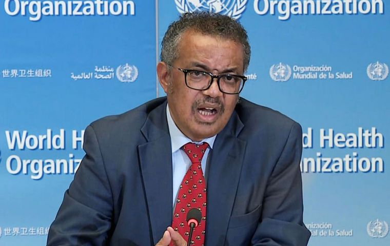 """We have a long road ahead of us and a lot of work to do,"" WHO Director-General Tedros Adhanom Ghebreyesus told a virtual news conference in Geneva"