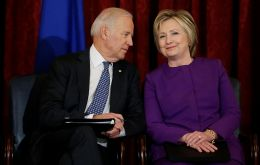 """I want to add my voice to the many who have endorsed you to be our president,"" Clinton said during a live video conference with the former vice president."