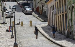 Tuesday's lockdown measure covers Sao Luis and parts of three other municipalities with a total population of around 1.3 million people in Maranhao. DOUGLAS JUNIOR/AP