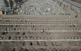 Gravediggers were preparing 2,000 fresh graves to cope with the pandemic which has so far claimed 368 lives in Chile since March 3.