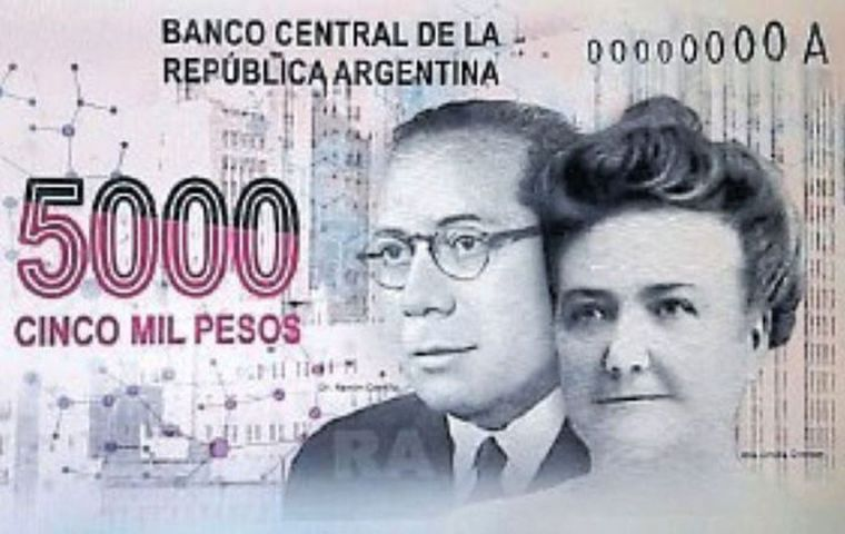 Dr. Ramón Carrillo and Dr. Cecilia Grierson, Argentina's first woman physician. Carrillo was the first Healthcare minister of Argentina with president Juan Peron
