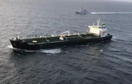 The tanker, named Fortune, reached the country's waters at around 7:40pm local time (1140 GMT), according to vessel tracking data from Refinitiv Eikon.