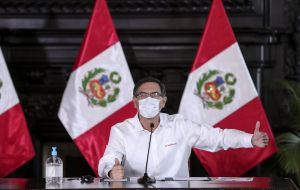 "President Vizcarra said there were signs that the worst had passed. ""Peru has already entered a plateau in the curve that registers the expansion of the epidemic."" ANDINA"