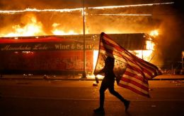 Riots over the weekend engulfed major US cities and more violence was feared Sunday over the death of George Floyd in police custody.