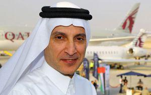 Qatar Airways CEO, Akbar Al Baker. Qatar owns 10% of Latam Airlines