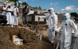 Sao Paulo, the epicenter of the pandemic in Brazil, recorded 340 new deaths in the last 24 hours, raising the state's confirmed death toll to 9,862