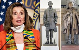 """Monuments to men who advocated cruelty and barbarism to achieve such a plainly racist end are a grotesque affront to these ideals"", Nancy Pelosi said"