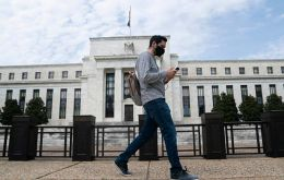 The Fed said in a statement after its policy meeting ended that the viral outbreak caused a sharp fall in economic activity and a surge in job losses.